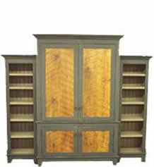 Antique Barnwood Armoire - Bookcases
