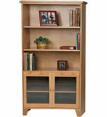 Shaker Bookcase With Glass Doors