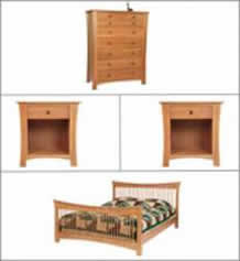 Andrews Natural Cherry Bedroom Set