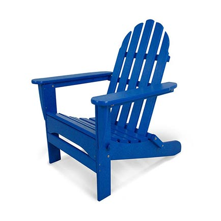 Classic Folding Adirondack Chair - Pacific Blue