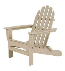 Classic Folding Adirondack Chair - Sand