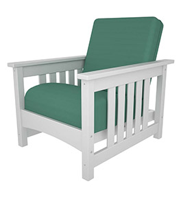 Deep Seating Club Mission Chair, White