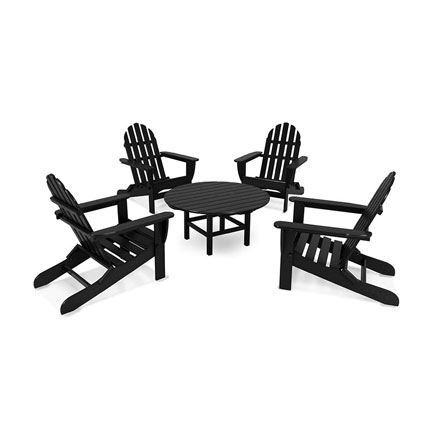 Classic Adirondack 5-Piece Conversation Group