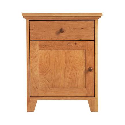 American Country 1-Drawer Nightstand with Door