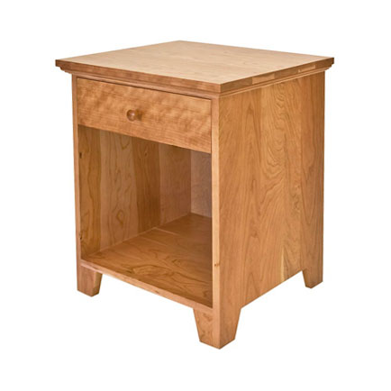 American Country 1-Drawer Enclosed Shelf Nightstand