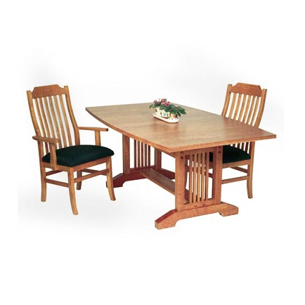 American Mission Trestle Table (Boat Top)