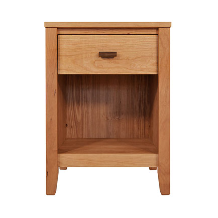 Andover Modern 1-Drawer Enclosed Shelf Nightstand