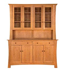 Andrews Natural Cherry Buffet & Hutch - In Stock