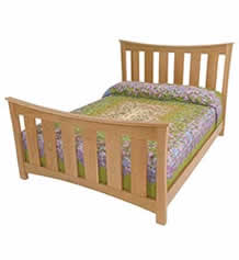 Andrews Natural Cherry Wide-Slat Bed