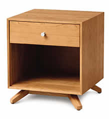 Astrid Cherry 1 Drawer Nightstand