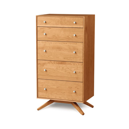 Astrid Cherry 5 Drawer Chest of Drawers
