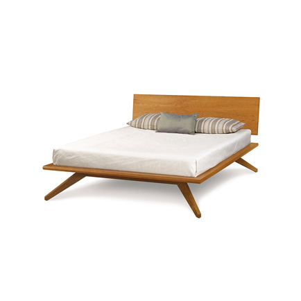 Astrid Modern Platform Bed in Cherry