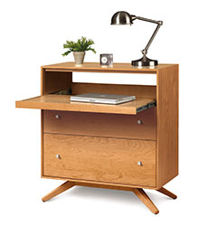 Astrid Cherry 2 Drawer Laptop Desk-Workstation