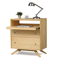 Astrid Maple 2 Drawer Laptop Desk