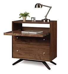 Astrid Walnut 2 Drawer Laptop Desk