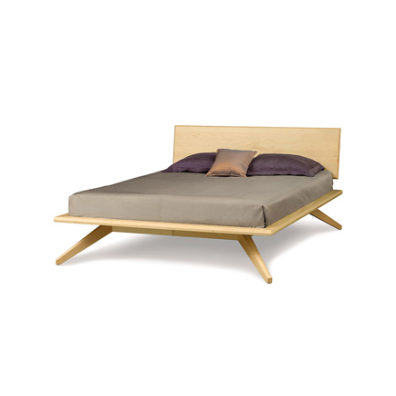 Astrid Modern Platform Bed in Maple