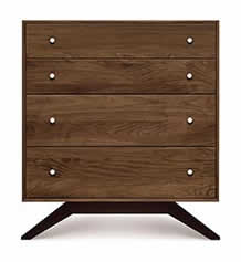 Astrid Walnut 4 Drawer Chest