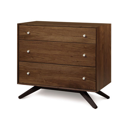 Astrid Walnut 3 Drawer Chest