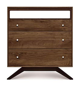 Astrid Walnut 3 Drawer Chest & TV Organizer
