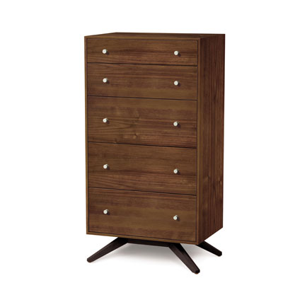 Astrid Walnut 5 Drawer Chest of Drawers