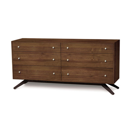 Astrid Walnut 6 Drawer Dresser