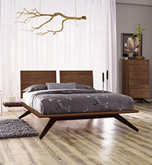Astrid Walnut Bedroom Set