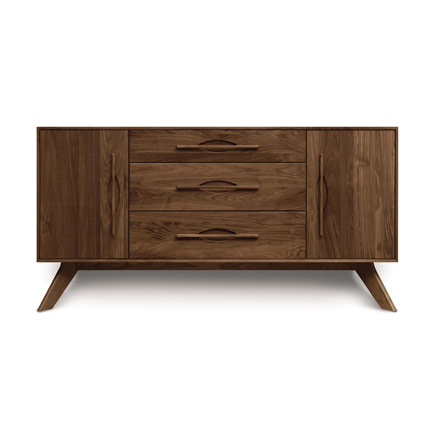Audrey Walnut 2-Door 3-Drawer Buffet