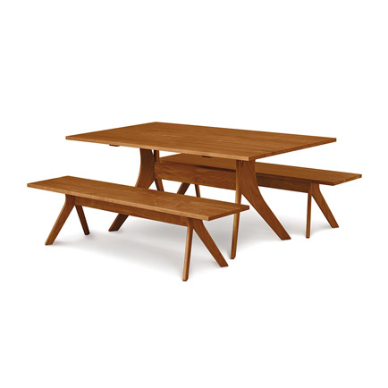 Audrey Cherry Solid Top Dining Table