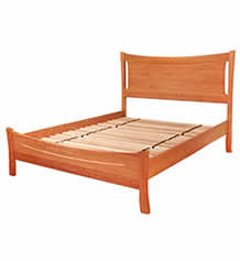 Brandon Cherry Panel Bed