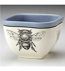 Small Square Bowl - Honey Bee