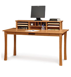 Berkeley Cherry Wood Desk with Organizer
