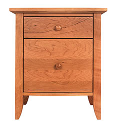 Bow-Front Night Stand With 1-Drawer and Door