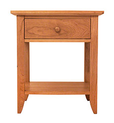 Bow-Front Open Shelf Night Stand