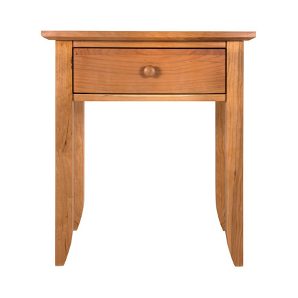 Bow-Front 1-Drawer Nightstand