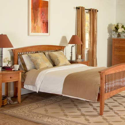 Bow-Front Bedroom Furniture Set