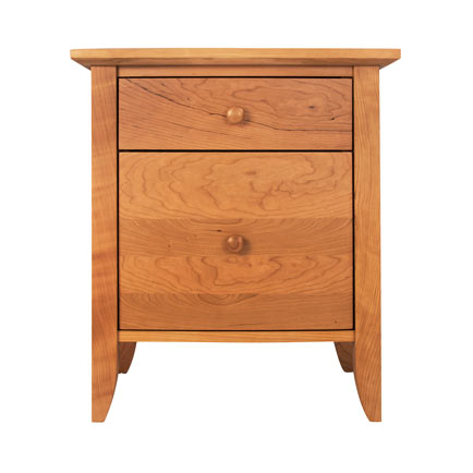 Bow-Front 1-Drawer 1-Door Nightstand