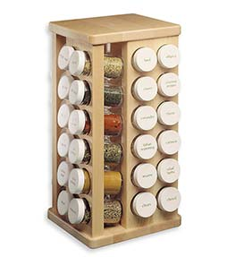 Maple Wood Carousel Spice Rack