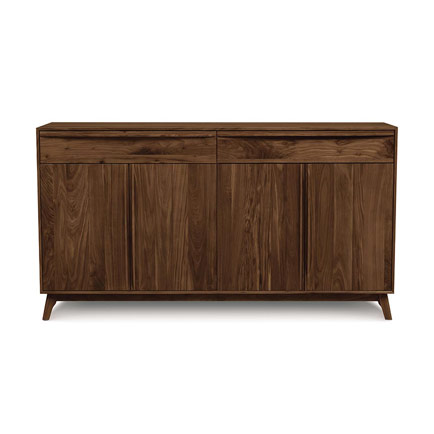 Catalina 4 Door, 2 Drawer Walnut Buffet