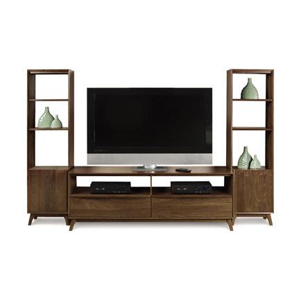 Catalina Walnut TV and Media Wall Unit