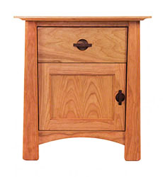 Cherry Moon 1-Drawer Night Stand With Door