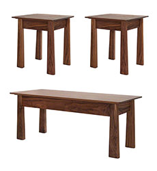 Cherry Moon Walnut Living Room Table Set