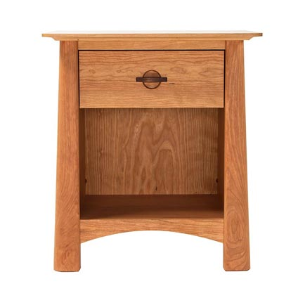 Cherry Moon 1-Drawer Enclosed Shelf Nightstand