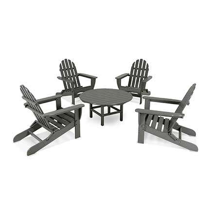 Classic Folding Adirondack 5-Piece Conversation Group