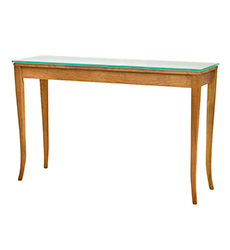 Classic Shaker Glass Top Sofa Table