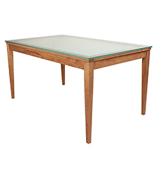Classic Shaker Glass Top Dining Table