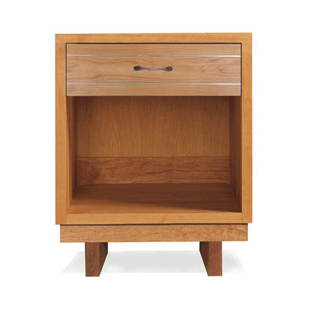 Contemporary Cable 1-Drawer Nightstand