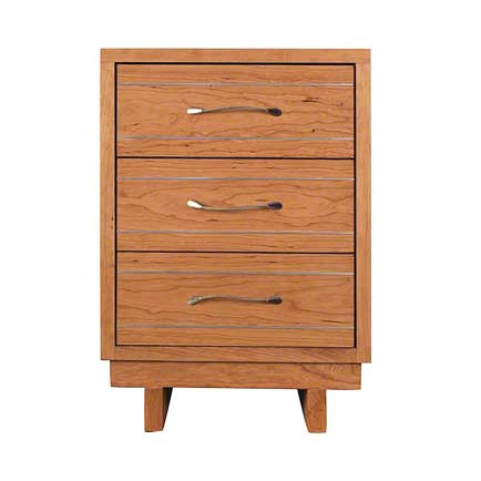 Contemporary Cable 3-Drawer Nightstand