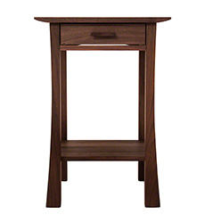 Contemporary Craftsman 1-Drawer Night Stand - In Stock
