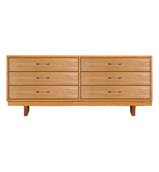 Contemporary Cable 6-Drawer Dresser