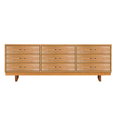 Contemporary Cable 9-Drawer Dresser